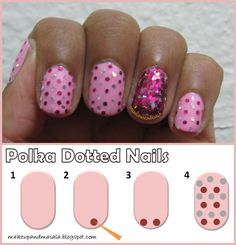 Polka Dot nail art done using Wet n Wild Tickled Pink and Milani Jewel FX in Hot Pink. Tips on doing this look are included!