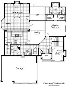High Quality Main Floor Floor Plan Of Camden Traditional Two Story Style Home