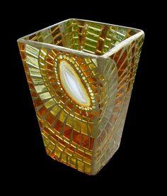 Agate Slice mosaic Vase