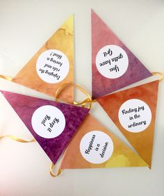 A personal favourite from my Etsy shop https://www.etsy.com/listing/277120672/bunting-colorful-watercolor-paper-print