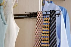 Organize ties with this tie rack from The Closet Builder.