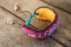 Boho chic bracelet by TheMagicOfBeads on Etsy, ¥2750