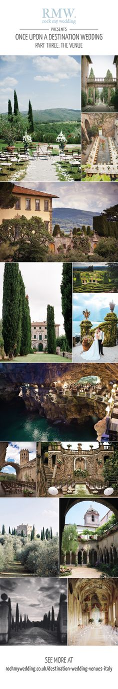 Destination wedding venues in Italy   http://www.rockmywedding.co.uk/destination-wedding-venues-italy/