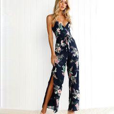 Boho Jumpsuit Plus Size Overalls For Women Rompers Xxxxl Xxxxxl Print Streetwear Bodysuit Mono Mujer Verano 2019 Salopette Femme Women's Clothing