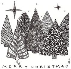 Christmas tree Zentangles