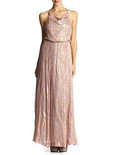 Addison Lurex Chiffon Maxi Dress | Piperlime
