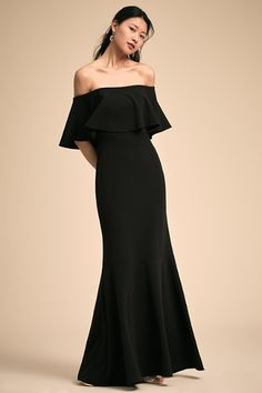 Black Dara Dress | BHLDN