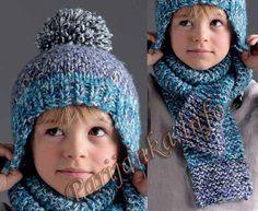 Шапка и шарф (д) 03 и 04*78 Phildar № 3094