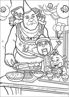 shrek the third printable coloring pages   Shrek Coloring Pages   free printable coloring page Shrek ...