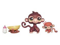 Littlest Pet Shop Cutest Pets Series 2 Figures Mommy & Baby Monkeys