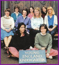 Lady Diana in the back row. A few months later ~ she would be transformed into Princess of Hearts.