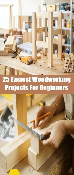 Woodworking Plans 25 Easiest Woodworking Projects For Beginners - Are you a beginner in woodworking? Discover here the 25 Easiest Woodworking Projects For Beginners. It will teach you the value simple design. Kids Woodworking Projects, Wood Projects For Beginners, Wood Working For Beginners, Diy Wood Projects, Woodworking Crafts, Woodworking Classes, Woodworking Machinery, Woodworking Bench, Youtube Woodworking