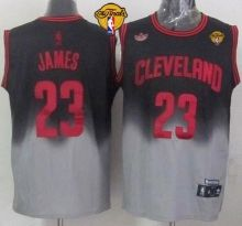 cavaliers 23 lebron james black grey fadeaway fashion the finals patch stitched nba jersey