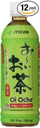 Ito En Tea Unsweetened Beverage, Oi Ocha Green, 16.9 Ounce (Pack of 12)