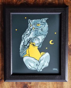 Night Owl print by Sam Flores available in-store and online. #ShopUP #UpperPlayground #SamFlores