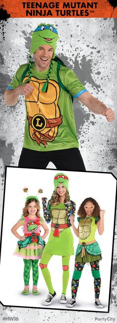 It's Turtle Time! Kick some shell this Halloween with the whole family and Teenage Mutant Ninja Turtles at Party City. Family Costumes, Halloween Costumes, Witch Doctor Costume, Haunted House Party, Turtle Time, Teenage Mutant Ninja Turtles, Tmnt, Holiday Fun, Dress Up