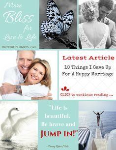 110 THINGS I GAVE UP FOR A HAPPY MARRIAGE ... read and subscribe for a weekly dose of bliss!  #love #marriage #happiness #women #relationships