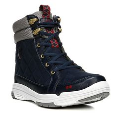 Ryka Aurora Ankle Boots in Jet Ink Blue/Frost Grey/Chili Pepper/Magnetic  Gold