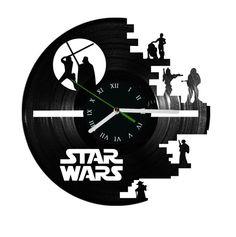 Star Wars vinyl record clock par puffpuffdesign sur Etsy