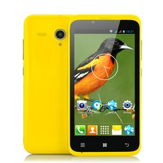 Oriole - Budget 4.5 Inch Android Phone (1.3GHz Dual Core CPU, GPS, Yellow)
