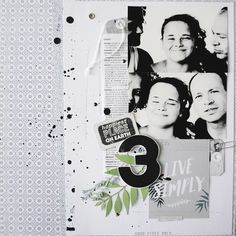 Page de #scrapbooking par Prisca Jockovic #scrap #papeteriecreative #papiers #photo #kesiart