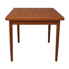 Danish Teak Expanding Leaf Dining Table Expandable Dining Table, Modern Love, Table Desk, Vintage Designs, Teak, Vikings, Danish, Furniture, Tables