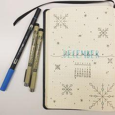 December Bujo Layout @bujo.dots