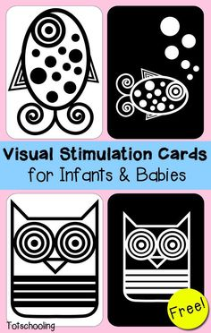Visual Stimulation Cards for Infants & Babies More