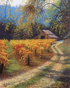 ~~After The Harvest ~ Serene Autumn Scenic Landscape By Charles White~~ Paintings Inspiration, Art | Modern Art Movements To Inspire Your Design