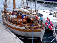 "Colin Archer yacht ""Fonix"" In Lerwick Harbour"