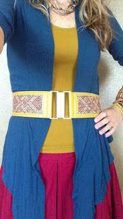 Peacocks and Leopards: Do you have accessories in your wardrobe that don't fit your DYT Type. Lindsi Jo shows how she took a grey-blue belt and hot pink shoes and painted both Mustard Yellow to suit her Type. #Refashion inspiration #DIY #leatherpaint #Style #T3