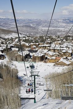 When the kids are getting good at skiing--Deer Valley Utah -- Better experience than Park City was. The view from the top is something else! Deer Valley Utah, Places To Travel, Places To Go, Park City Utah, Ski Lift, Ski Resorts, Grandkids, Passport, Places Ive Been