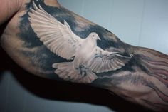 Cool realistic dove by Valerian.           https://www.facebook.com/pages/BAStattoo-GALLERYart-caffe/124021327663799?fref=ts