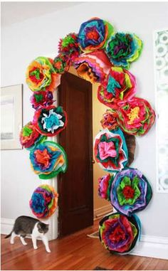 Aunt Peaches DIY Fiesta Flowers - If you are thinking of hosting a party or countless festive gatherings, these Aunt Peaches Fiesta Flowers are a perfect way to decorate for any occ. Cuban Party, Mexican Party, Latin Party, Fiesta Decorations, Flower Decorations, Xmas Party, Party Time, Havanna Party, Havana Nights Theme