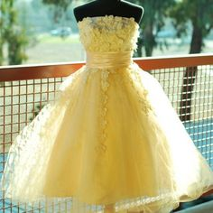 yellow tulle flower girl dress - Google Search