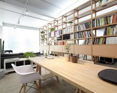 TAOA Studio / Tao Lei Architecture Studio - we love how the chair legs contrast with the #office desk and bookcase