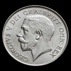 1924 George V Silver Shilling – Rare – AU
