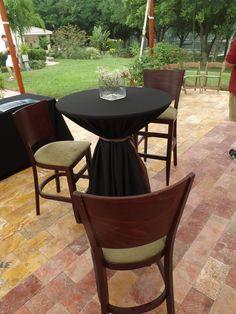 Plenty of room for socializing on the event terrace