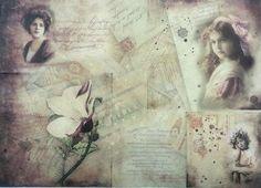 Rice Paper for Decoupage Decopatch Scrapbooking Sheet Craft Vintage Photos