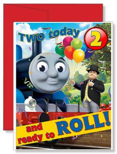 Personalized Birthday Greeting Card Thomas the Tank Engine Birthday Greeting Cards, Birthday Greetings, Birthday Gifts, Personalized Greeting Cards, Personalized Gifts, Family Vacation Shirts, Train Party, Red Envelope, Thomas The Tank