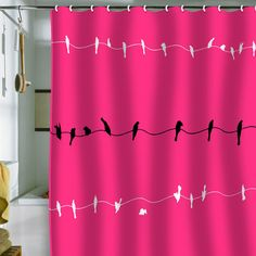 Fab.com | Neon Nature Shower Curtain by Shannon Clark