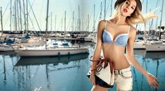 Fandecie Rocks Nautical Navy Style for Summer Intimate Wear Lingerie Photos, Celebrity News, Bikinis, Swimwear, Nautical, Your Style, Lifestyle, Celebrities, Navy Style
