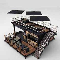 Details about Shipping Container Kiosk Cafe Coffee 160 sq. Container Bar, Container Home Designs, Shipping Container Restaurant, Container Coffee Shop, Shipping Container Homes, Container Houses, Shipping Containers, Container Buildings, Container Gardening
