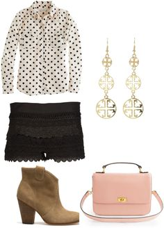 """cute in neutrals"" by libbyh1999 ❤ liked on Polyvore"