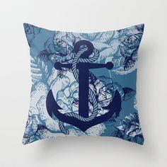 Anchor Art IV Throw Pillow by studio VII - http://society6.com/vivinicolin/Anchor-Art-IV_Pillow