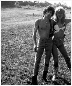 Keith Richards and Patti Hansen, 1981