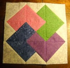 Rhonda's Quilting Tutorials: Card Trick Quilt Block Made with My Methods