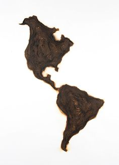 'insular' (2008) by kate mccgwire. fifty layers of burnt paper, (plan view).