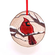 Customers - Theres still time! Order by December to receive your ornament by Chr. Painted Christmas Ornaments, Wooden Ornaments, Hand Painted Ornaments, Christmas Wood, Cardinal Ornaments, Xmas, Beach Christmas, Wood Burning Crafts, Wood Burning Art