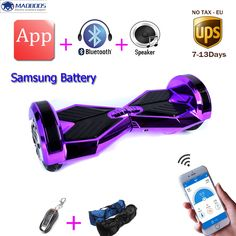 Samsung battery 8 inch led light 2 wheels balancing electric scooter smart electric skateboard APP self balance hoverboard * This is an AliExpress affiliate pin.  Item can be found on AliExpress website by clicking the VISIT button